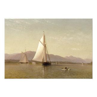 Silva de Francisco Augustus - el Hudson en Tappan Impresión Fotográfica