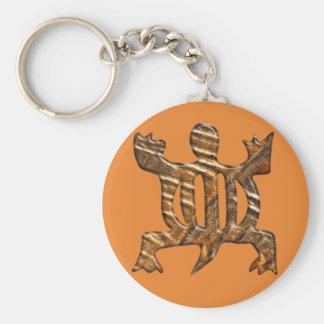 Simbol de Adinkra del africano de la adaptabilidad Llavero Redondo Tipo Chapa