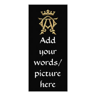 "Símbolo alfa y de Omega ""tridimensional"" de oro w/ Lona"