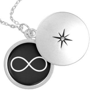 Símbolo blanco del infinito joyerías