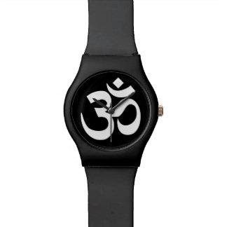 Símbolo blanco y negro de OM Relojes De Mano