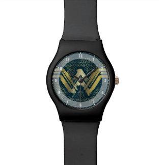 Símbolo cepillado Mujer Maravilla del oro Reloj De Pulsera