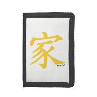 Símbolo chino ambarino amarillo de la familia