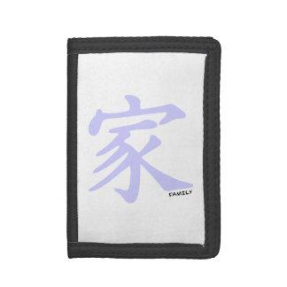 Símbolo chino azul de la familia de la lavanda