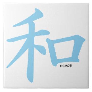 Símbolo chino de los azules cielos para la paz azulejos