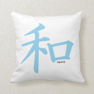 Símbolo chino de los azules cielos para la paz almohadas
