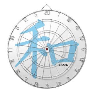 Símbolo chino de los azules cielos para la paz tablero dardos