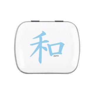Símbolo chino de los azules cielos para la paz frascos de caramelos