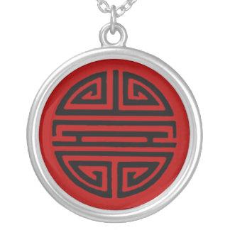 Símbolo chino para el collar de la longevidad
