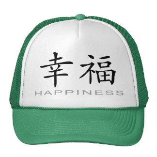 Símbolo chino para la felicidad gorros bordados
