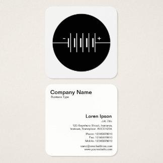 Símbolo circundado de las baterías - blanco y tarjeta de visita cuadrada