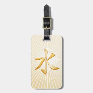 Símbolo confuciano etiqueta para maletas