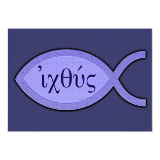 Símbolo cristiano de los pescados de IXOYE - Invitación 12,7 X 17,8 Cm