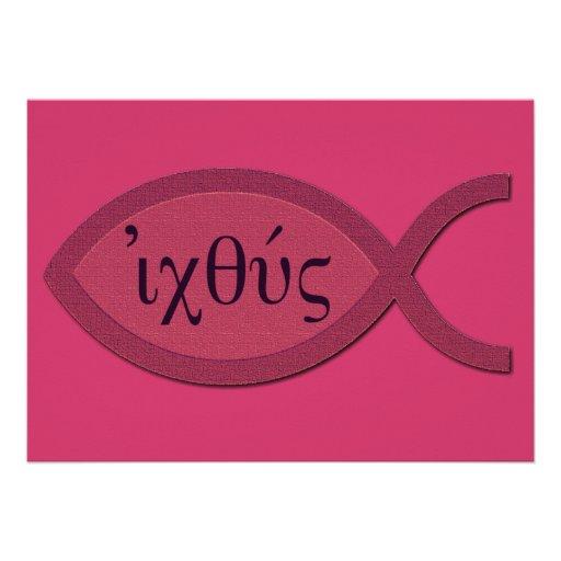 Símbolo cristiano de los pescados de IXOYE - perga Comunicado Personal