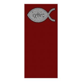 Símbolo cristiano de los pescados de IXOYE - Lona