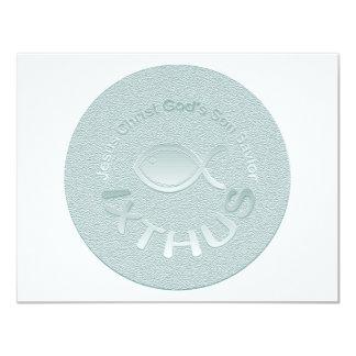 Símbolo cristiano de los pescados de IXTHUS - Anuncio Personalizado