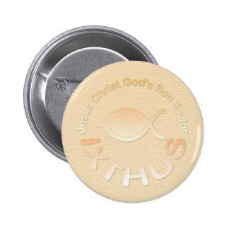 Símbolo cristiano de los pescados de IXTHUS - ORO Pins