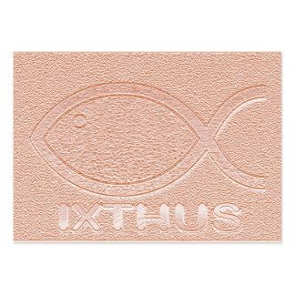 Símbolo cristiano de los pescados de IXTHUS - tarj Tarjeta De Visita