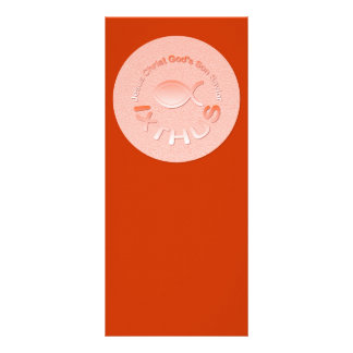 Símbolo cristiano de los pescados de IXTHUS - Tarjeta Publicitaria A Todo Color