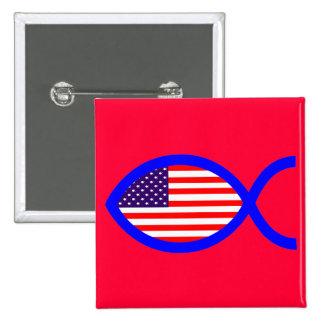 Símbolo cristiano de los pescados de la bandera pin