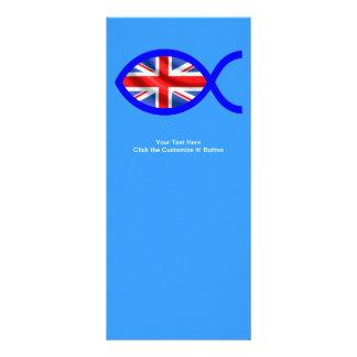 Símbolo cristiano de los pescados de la bandera lonas publicitarias