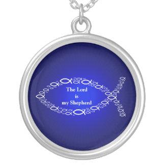 Símbolo cristiano de los pescados de la fe el | de collar plateado