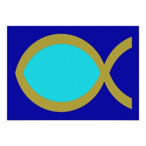 Símbolo cristiano de los pescados invitacion personalizada