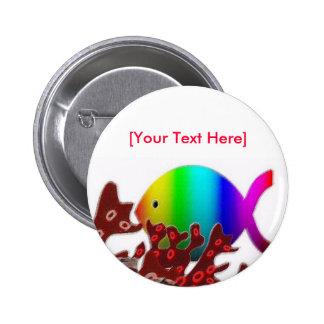 Símbolo cristiano de los pescados - océano del arc pin