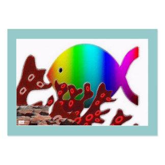Símbolo cristiano de los pescados - océano del tarjeta de visita