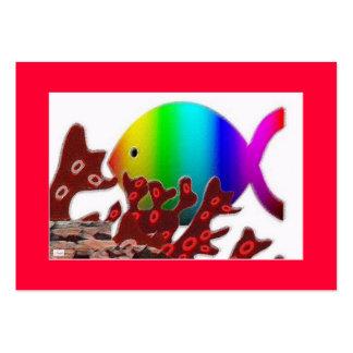Símbolo cristiano de los pescados - océano del tarjetas de visita grandes
