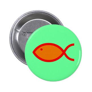 ¡Símbolo cristiano de los pescados - RUIDOSAMENTE! Pin