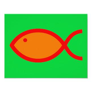 ¡Símbolo cristiano de los pescados - RUIDOSAMENTE! Invitaciones Personalizada