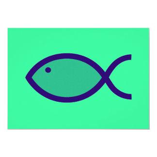 ¡Símbolo cristiano de los pescados - RUIDOSAMENTE! Invitacion Personalizada