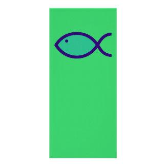 ¡Símbolo cristiano de los pescados - RUIDOSAMENTE! Tarjeta Publicitaria Personalizada