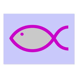 ¡Símbolo cristiano de los pescados - RUIDOSAMENTE Tarjeta De Visita