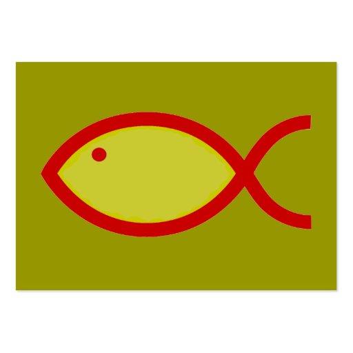 ¡Símbolo cristiano de los pescados - RUIDOSAMENTE! Tarjetas De Visita