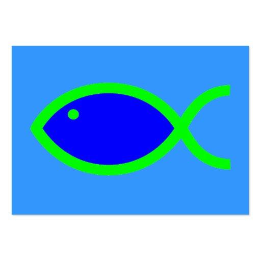 ¡Símbolo cristiano de los pescados - RUIDOSAMENTE! Tarjeta De Visita