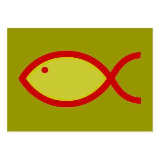 ¡Símbolo cristiano de los pescados - RUIDOSAMENTE! Tarjetas De Visita Grandes