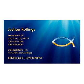 Símbolo cristiano de los pescados tarjetas de visita