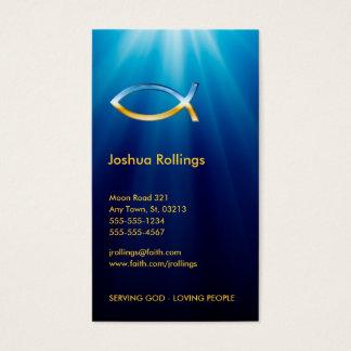 Símbolo cristiano el | de los pescados inspirado tarjeta de negocios