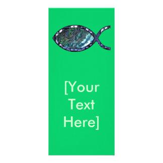 Símbolo cristiano radiante de los pescados tarjeta publicitaria personalizada