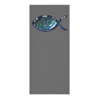 Símbolo cristiano radiante de los pescados plantilla de lona