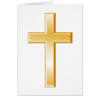 Símbolo cruzado cristiano tarjeta