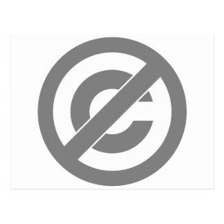 Símbolo de Anti-Copyright del public domain Postal