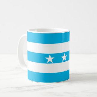 Símbolo de Ecuador de la bandera de la ciudad de Taza De Café