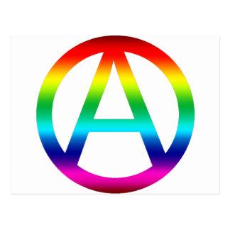 Símbolo de la anarquía del arco iris postal