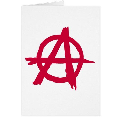 Símbolo de la anarquía tarjeta