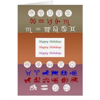 Símbolo de la astrología del zodiaco: Días de fies Tarjeta De Felicitación