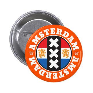 Símbolo de la ciudad de Amsterdam XXX con la Chapa Redonda De 5 Cm