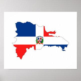 símbolo de la forma del mapa de la bandera de país póster